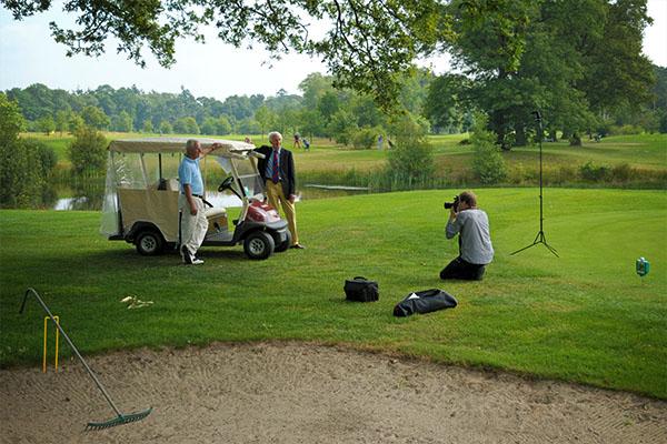 fotograaf op golfbaan twente