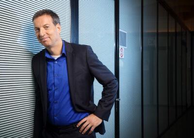 portretfoto op locatie van Maarten IJzerman