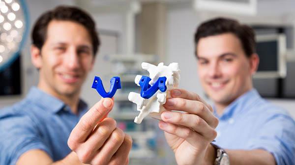 bedrijfsfotografie 3D geprinte wervels